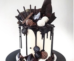 cake, chocolate, and creative image