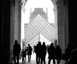 art, black and white, and france image