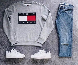 fashion, outfit, and tommy hilfiger image