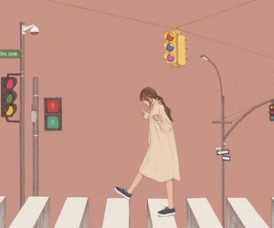 art, drawing, and crosswalk image