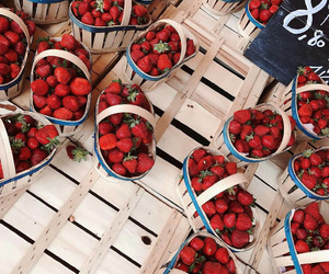 strawberries, food, and fruit image