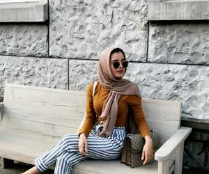 hijab, ootd, and hijâbi image