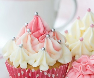 birthday, cupcake, and pink image