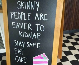 cake, funny, and skinny image