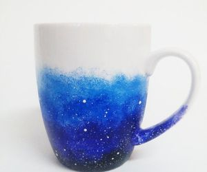 blue, christmas stocking, and coffee image