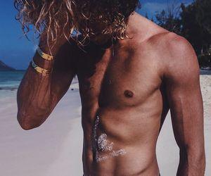 beach, boy, and Hot image