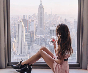 dress, girl, and new york image