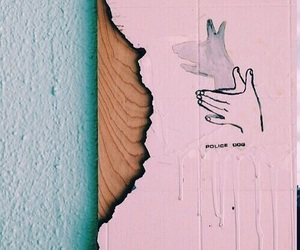 pink, teal, and theme image