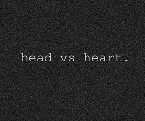 heart, head, and quotes image