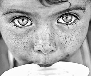 eyes, black and white, and photography image