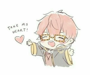 mystic messenger, 707, and chibi image