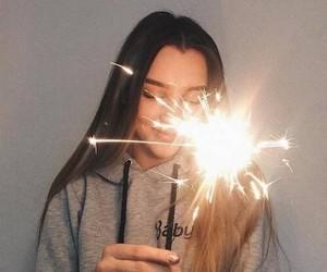 girl, tumblr, and light image