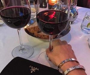 wine, Prada, and drink image