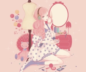 anime, kawaii, and pink image