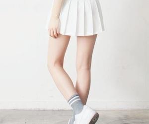 fashion, white, and skirt image