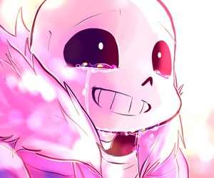 sans, undertale, and cry image