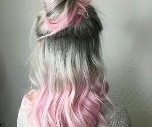 hair, pink, and grey image