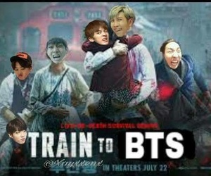 memes, bts, and train to busan image