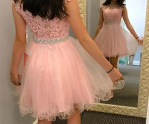 dress, Prom, and short prom dress image