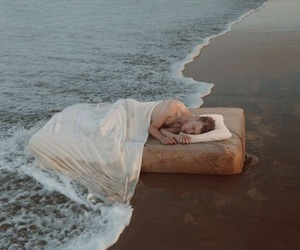 beach, sleep, and boy image