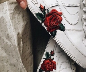 rose, nike, and red image