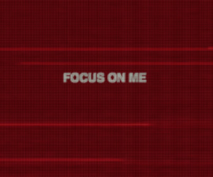 focus and red image