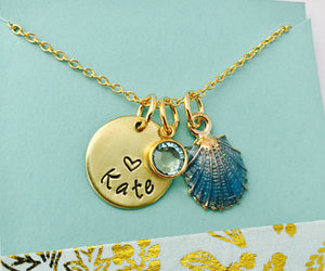 etsy, personalized, and seashell image