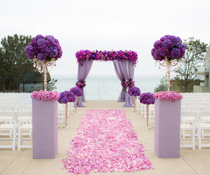 wedding, flowers, and purple image