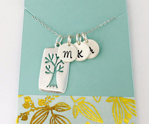 etsy, personalized, and tree charm image