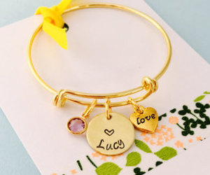 etsy, personalized name, and little girl bracelet image