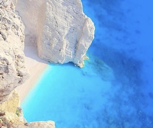 beach, blue lagoon, and holiday image