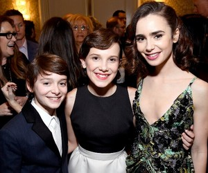 celebrity, lily collins, and netflix image