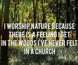 church, nature, and witch image