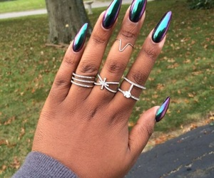 nails, chrome, and long image