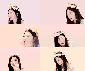 aesthetic, flower crown, and cute image