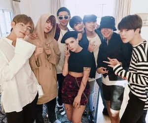 bts, jin, and halsey image