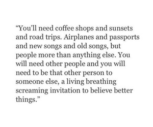 quotes, sunset, and coffee image