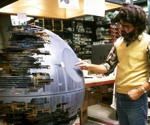 star wars, george lucas, and death star image
