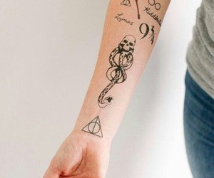 tattoo, harry potter, and cool image