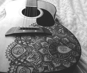 guitar, guitarra, and music image