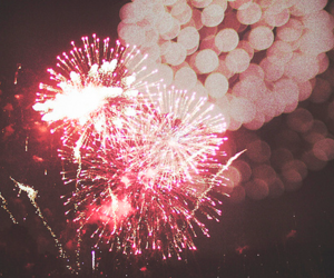 fireworks, photography, and pink image