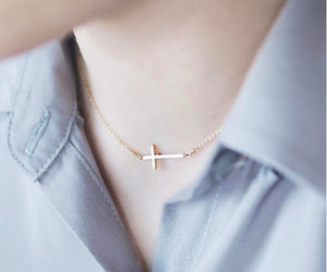 etsy, cross necklace, and silver cross image