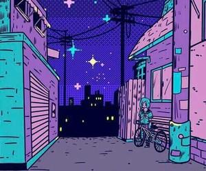 wallpaper, night, and purple image