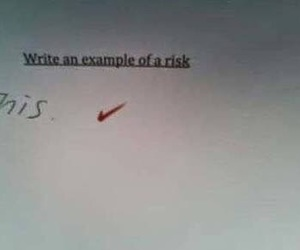 funny, risk, and school image