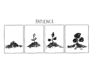 growth, patience, and qoute image