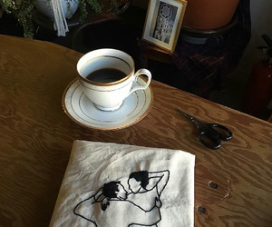 art, artist, and cafe image