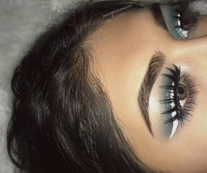 blue eyeshadow, eyemakeup, and koko lashes image