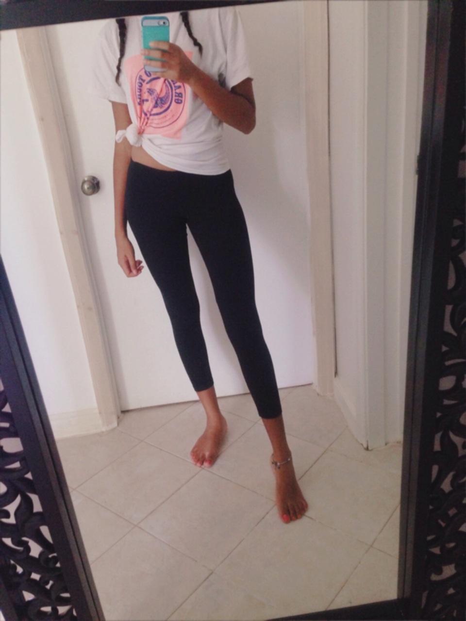 girl, leggings, and pose image