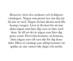 vänskap, bästavän, and svenska citat image