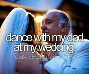 wedding, dad, and dance image